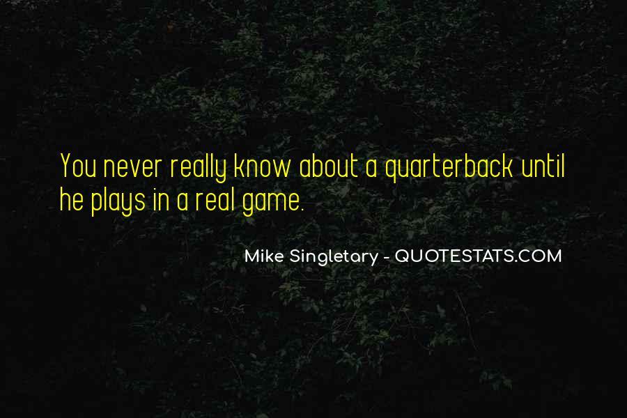 Quarterback Quotes #18124