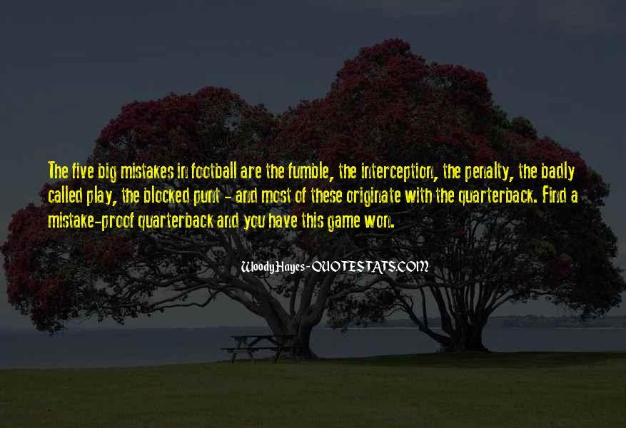 Quarterback Quotes #528498