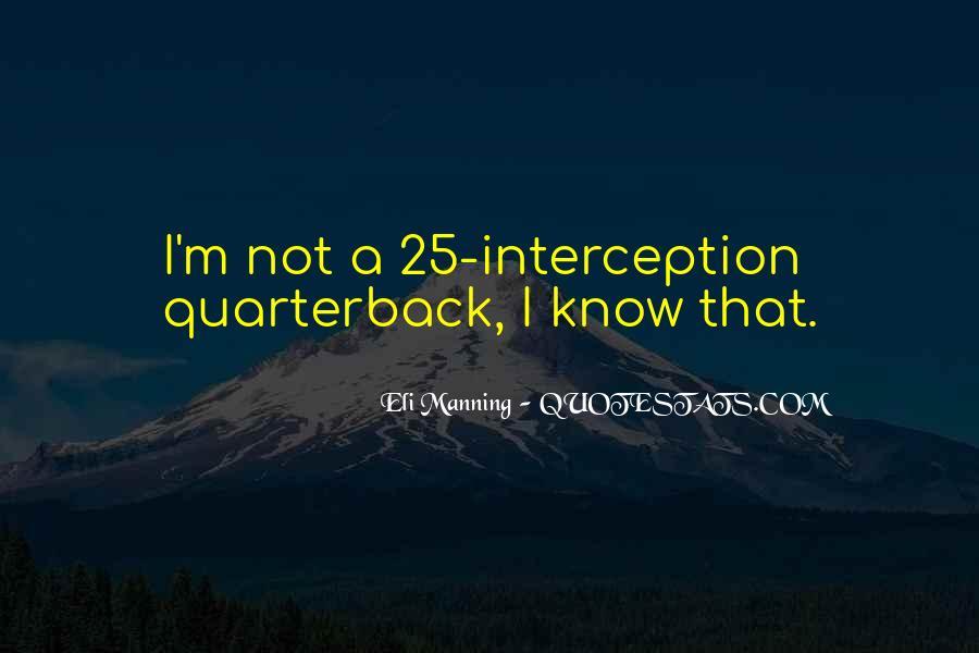 Quarterback Quotes #92564
