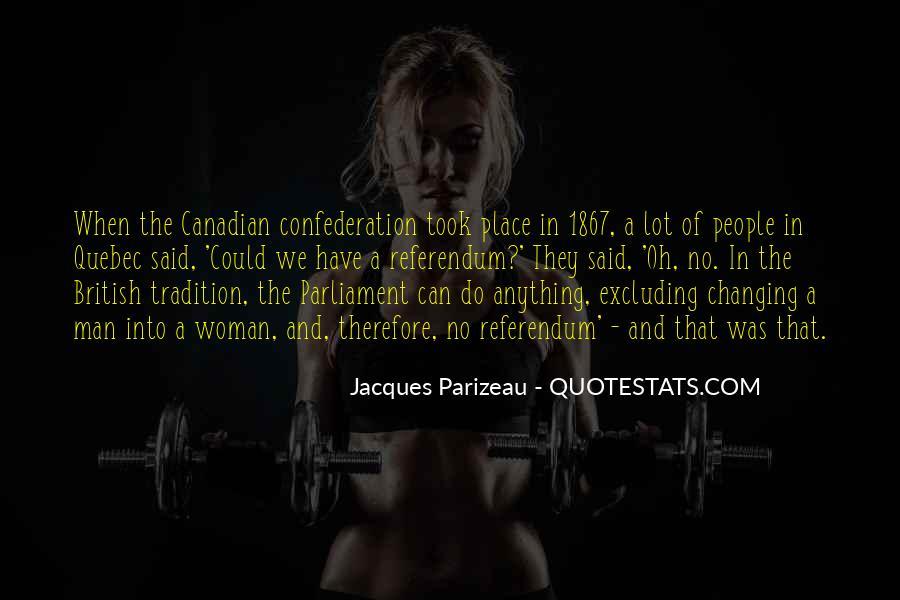 Quebec Referendum Quotes #144666