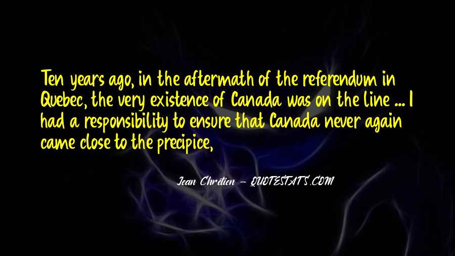 Quebec Referendum Quotes #990408