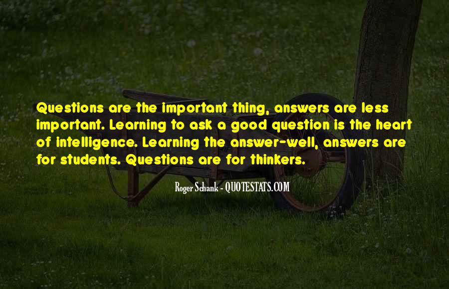 Questions To Ask To Get Good Quotes #1006620