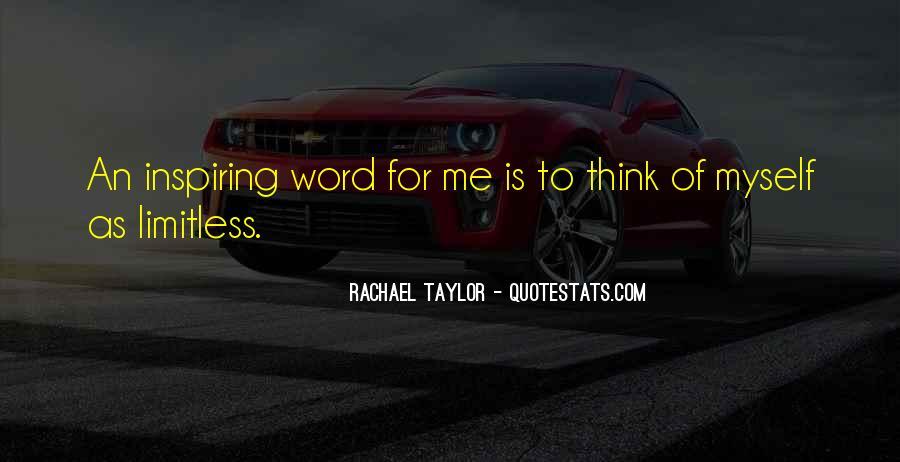 Rachael Quotes #248477