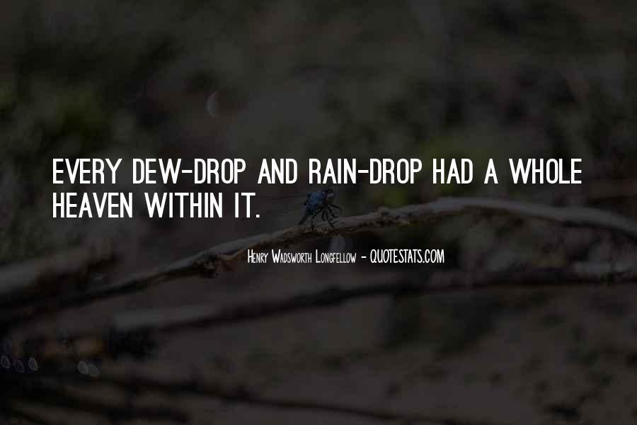 Rain Dew Quotes #1372799