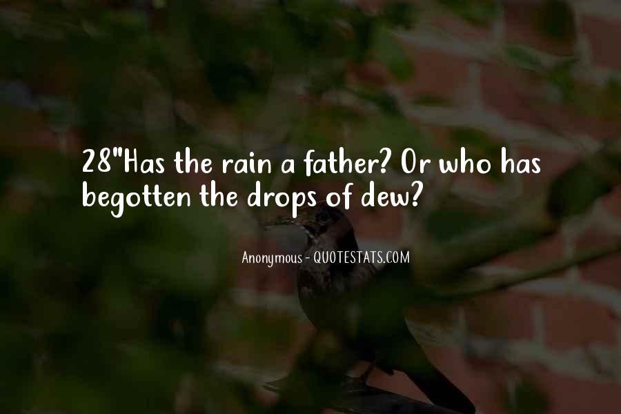 Rain Dew Quotes #254275