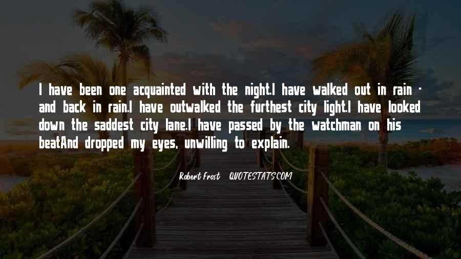 Rain In The Night Quotes #1158464