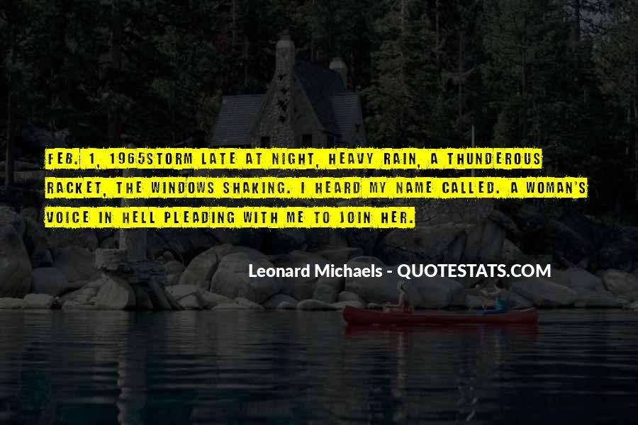 Rain In The Night Quotes #1367405