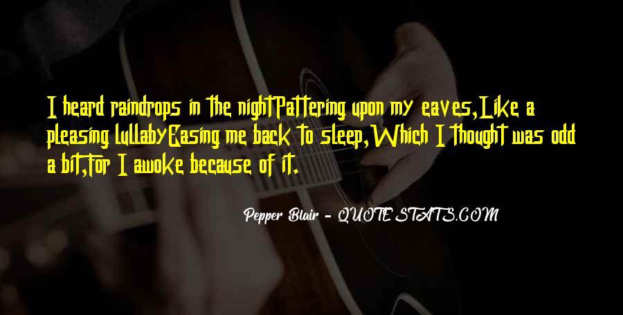 Rain In The Night Quotes #1753141