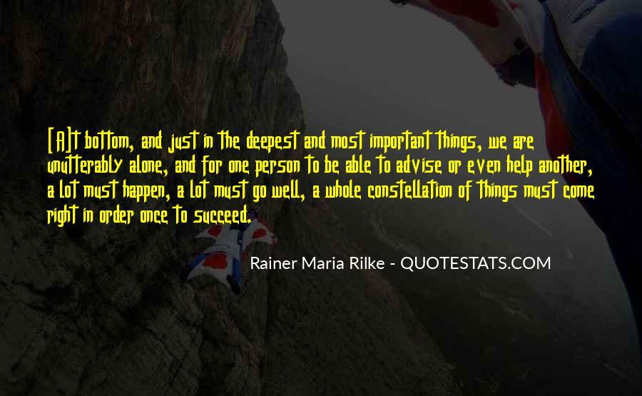 Rainer Maria Quotes #25430