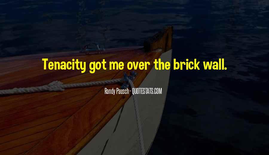 Randy Pausch Brick Wall Quotes #98843