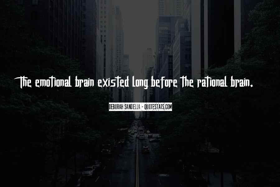 Rational Over Emotional Quotes #1107285