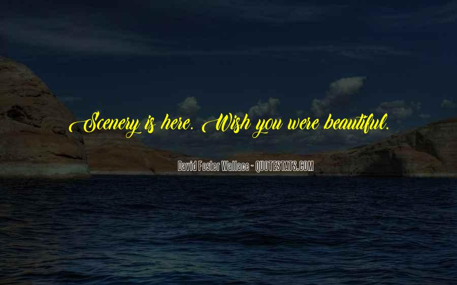 Quotes About Beautiful Scenery #1499707