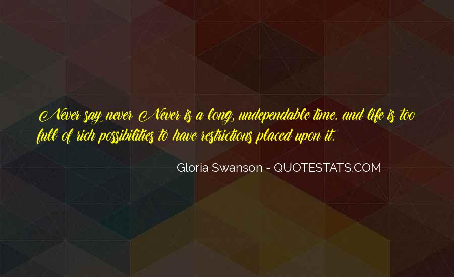Quotes About Gloria Swanson #1194925