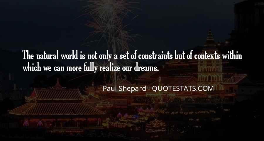 Realizing Dream Quotes #1668867