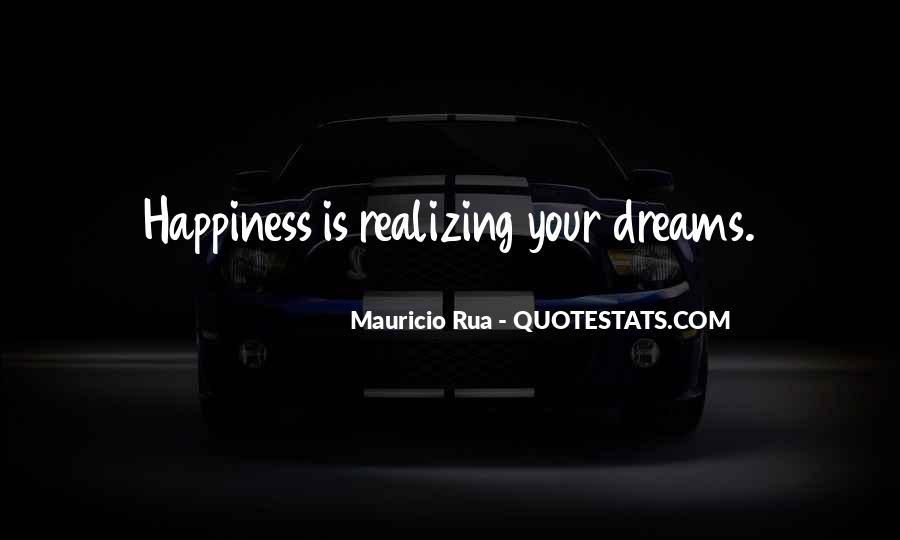 Realizing Dream Quotes #17095