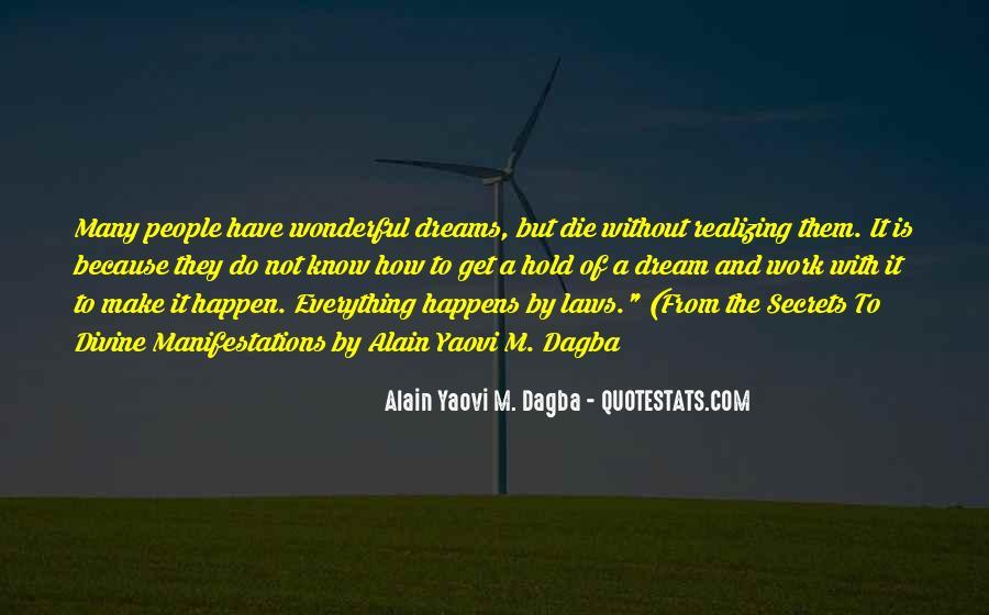 Realizing Dream Quotes #1859880