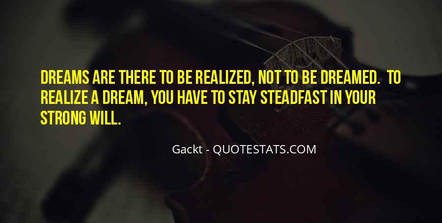 Realizing Dream Quotes #429184