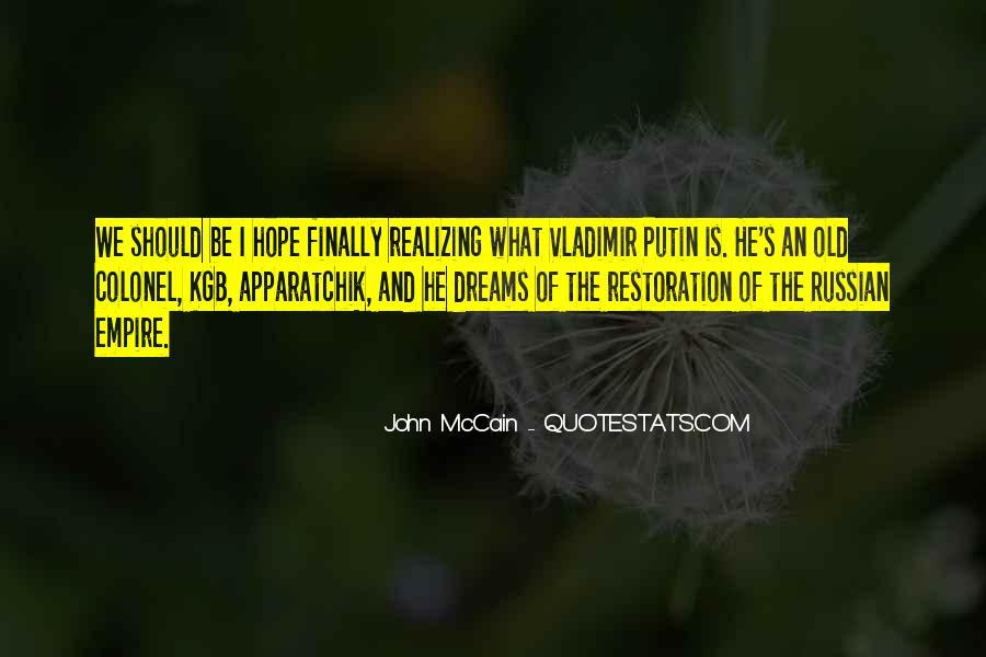 Realizing Dream Quotes #743218