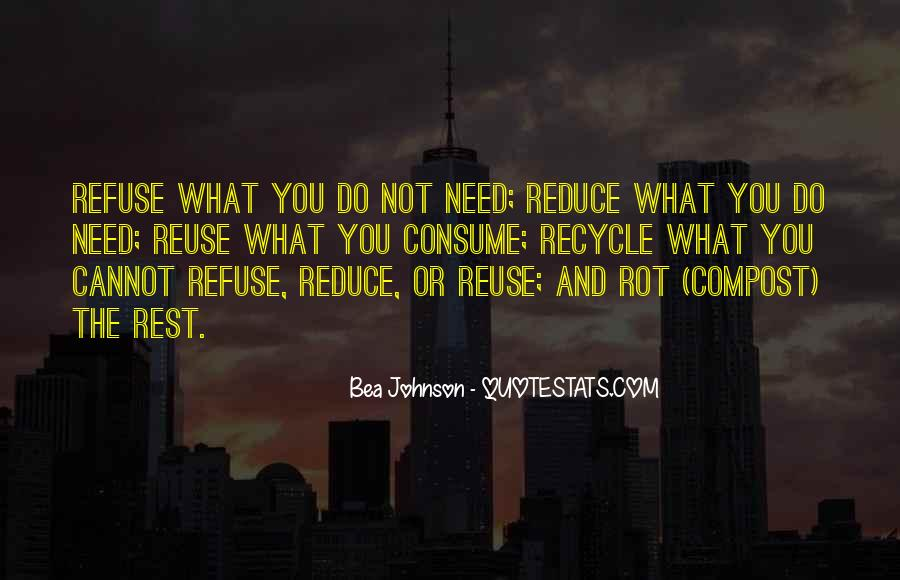 Reduce Recycle Quotes #217935