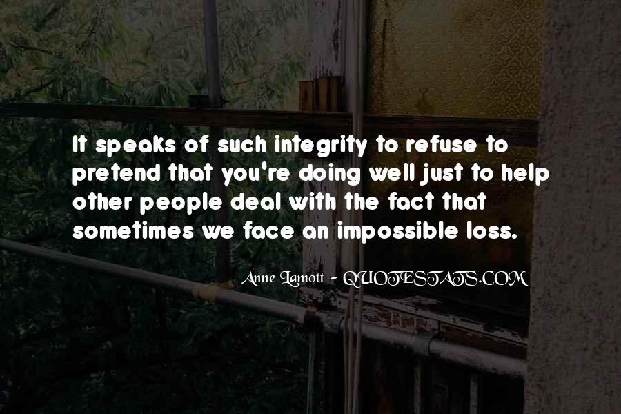 Refuse Help Quotes #33210