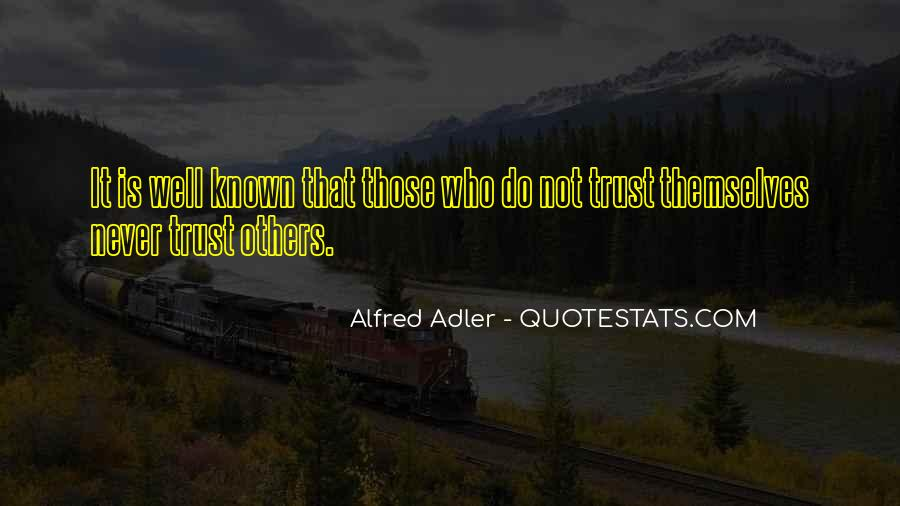 Quotes About Alfred Adler #129944