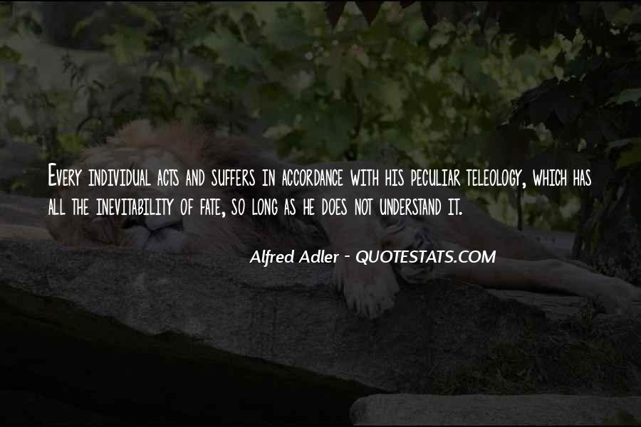 Quotes About Alfred Adler #1604277