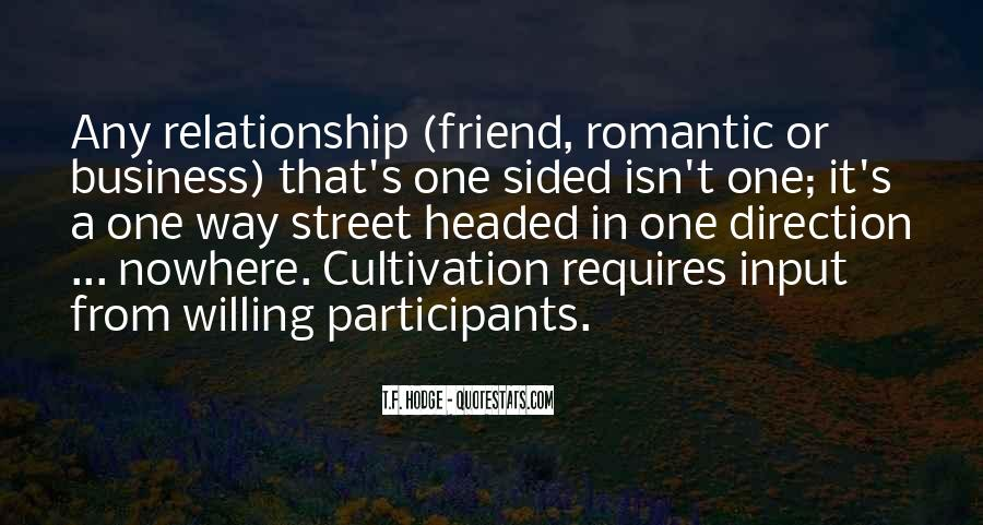 Relationship One Sided Quotes #158710