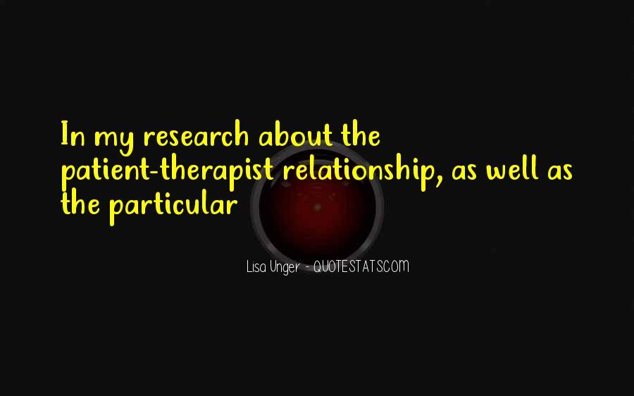 Relationship Therapist Quotes #136164
