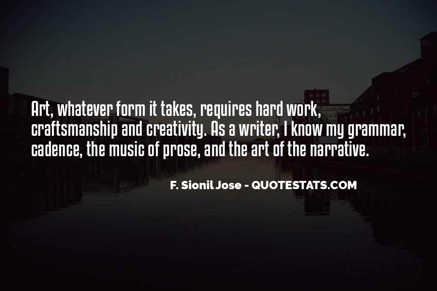 Quotes About Art And Hard Work #1296450