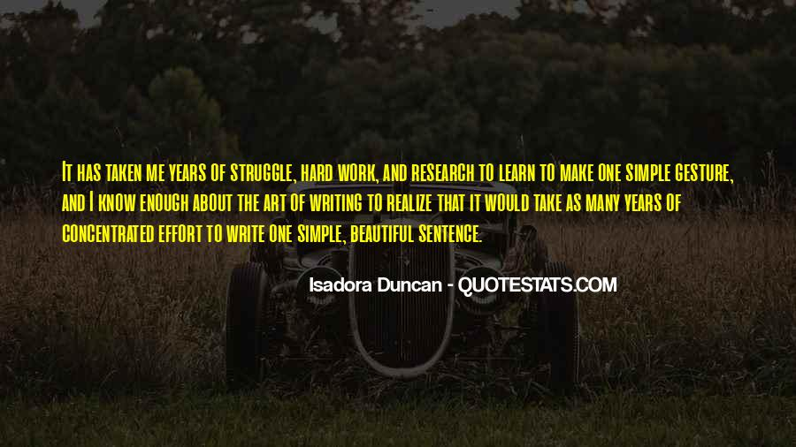 Quotes About Art And Hard Work #5905