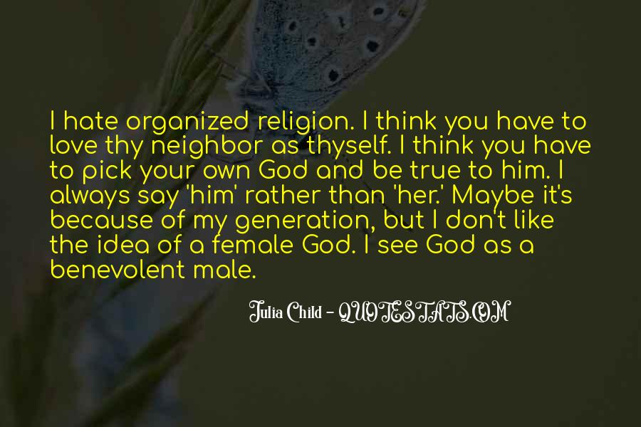 Religion And Hate Quotes #1048254