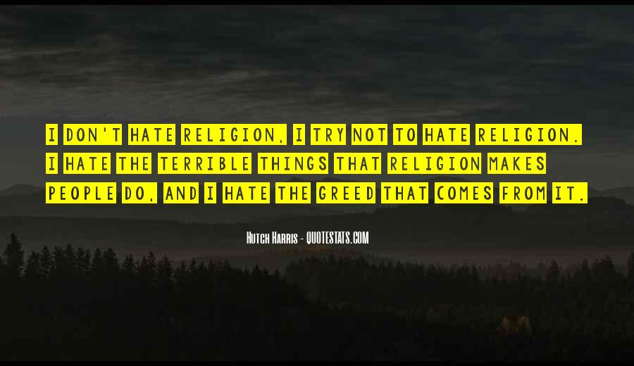 Religion And Hate Quotes #977292