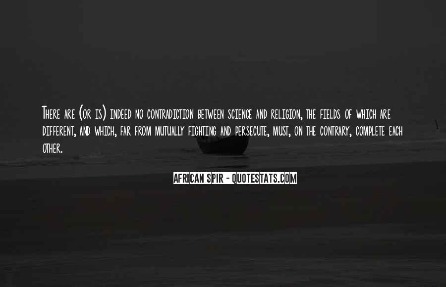 Religion Contradiction Quotes #160082