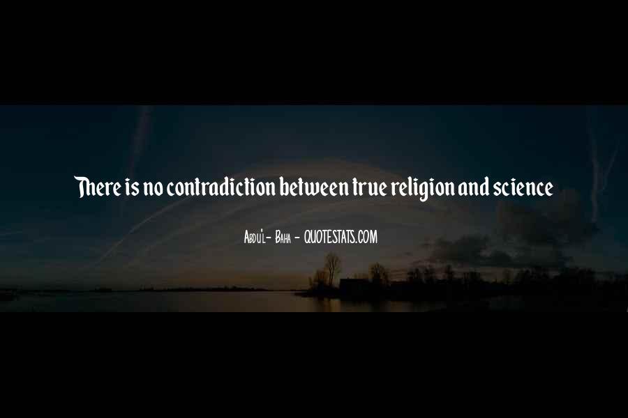 Religion Contradiction Quotes #870220