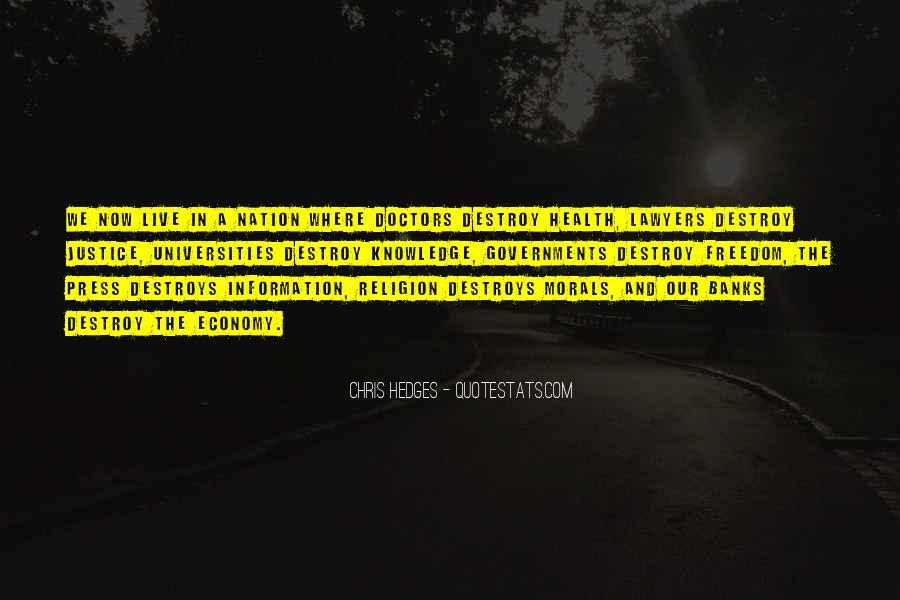 Religion Destroys Quotes #474886