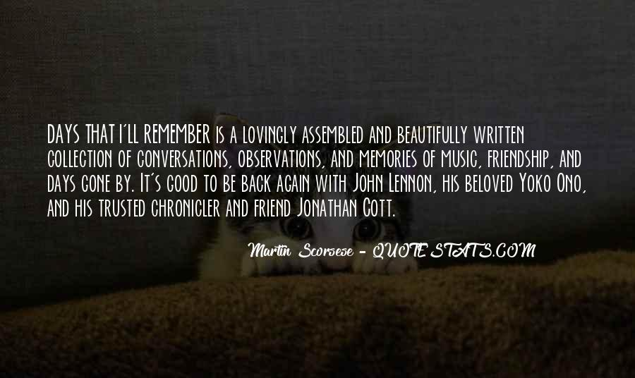 Remember Me Friendship Quotes #596324