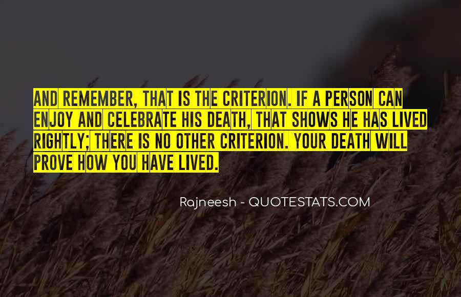 Remember You Death Quotes #1527787