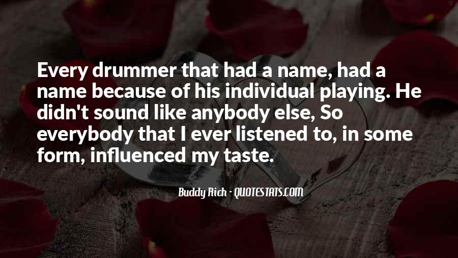 Quotes About Buddy Rich #506314