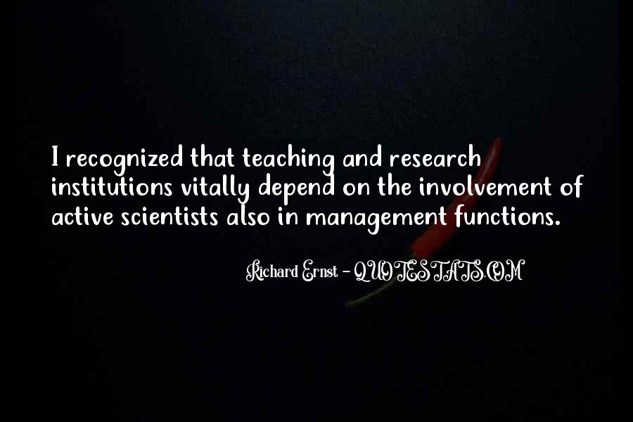 Research And Teaching Quotes #739315