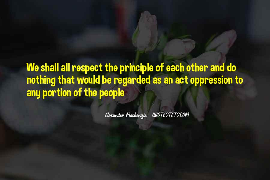Respect Each Others Quotes #2818