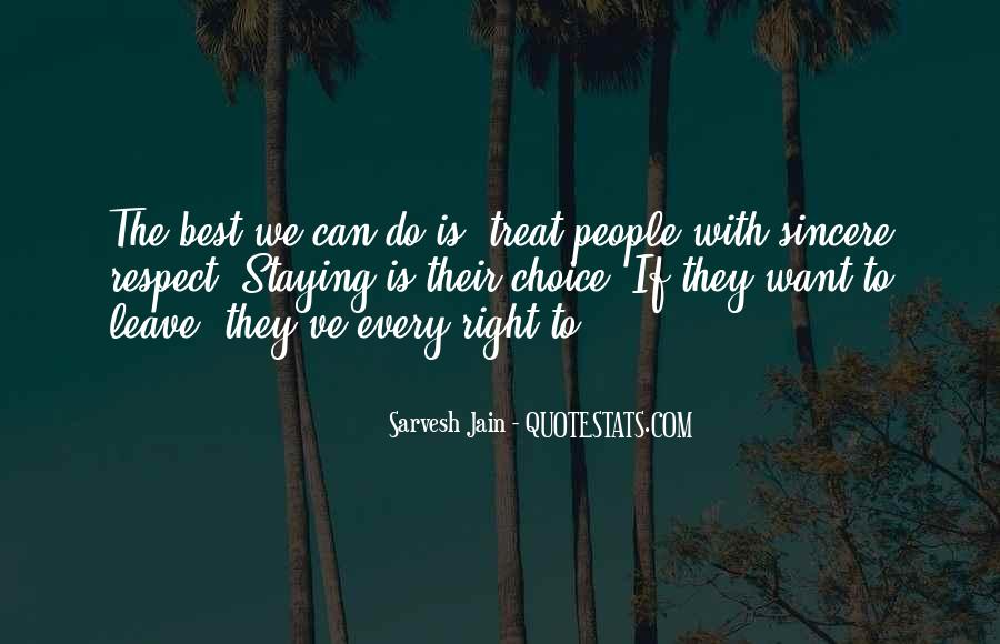 Respect Each Others Quotes #3129