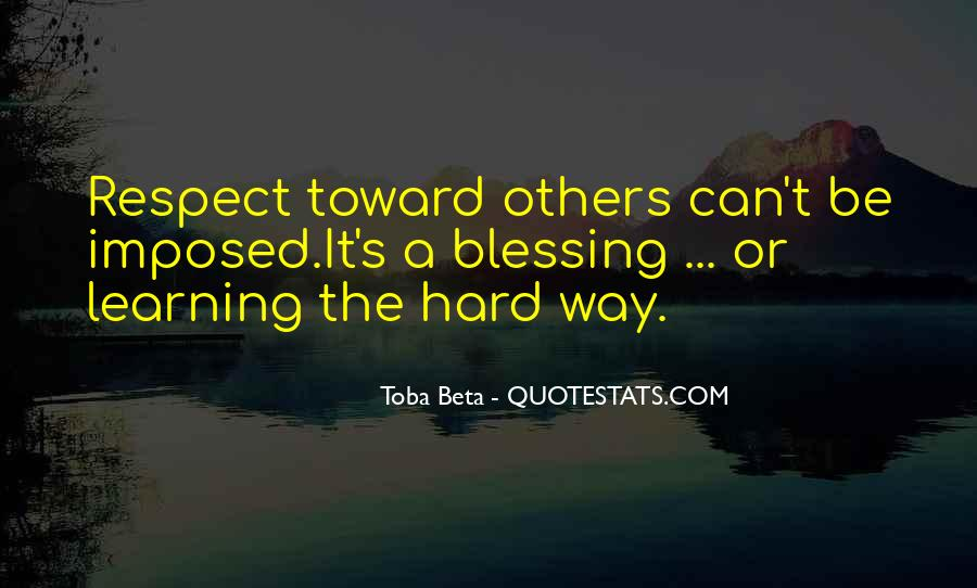 Respect Each Others Quotes #3780