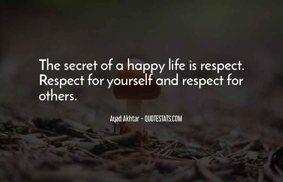 Respect Each Others Quotes #6173
