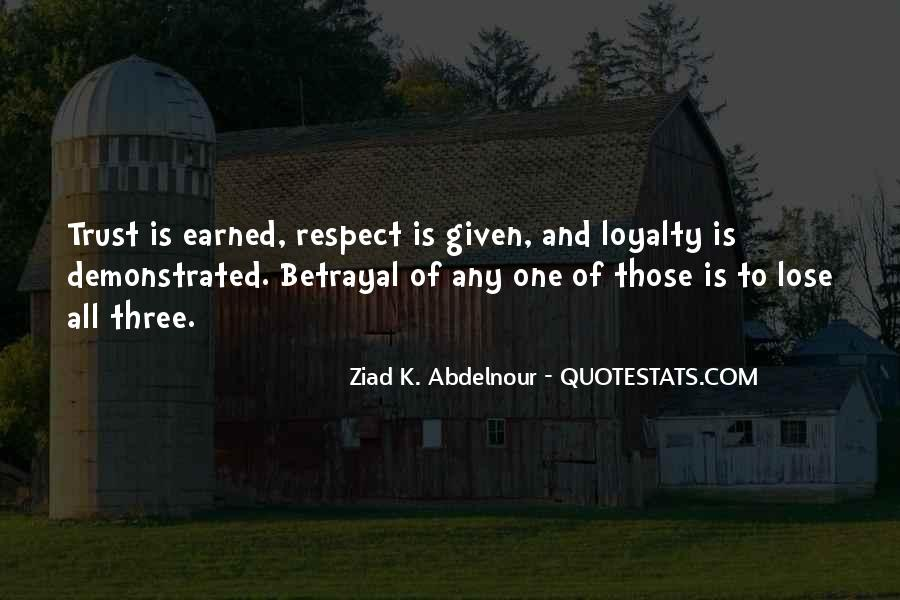 Respect Earned Not Given Quotes #1299564