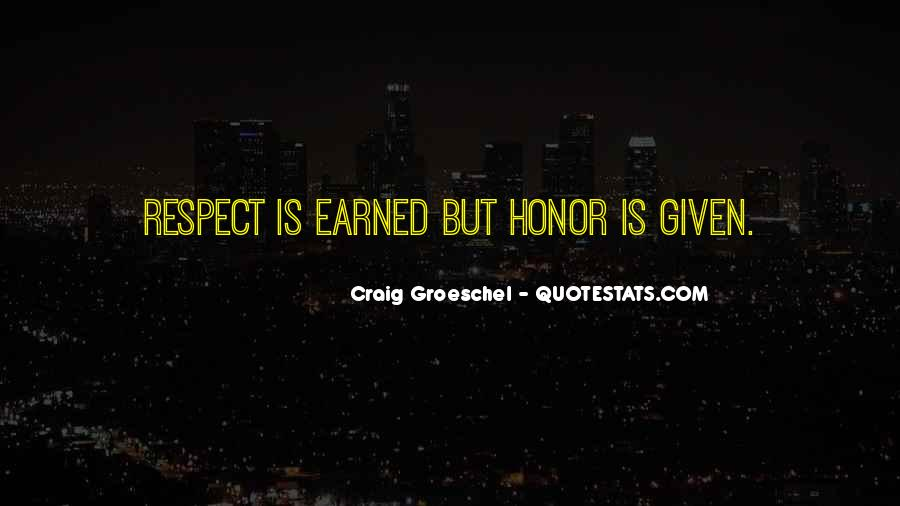 Respect Earned Not Given Quotes #1832003