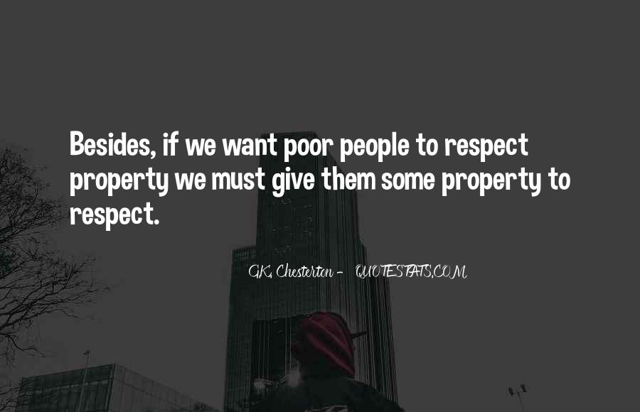 Respect My Property Quotes #1241162