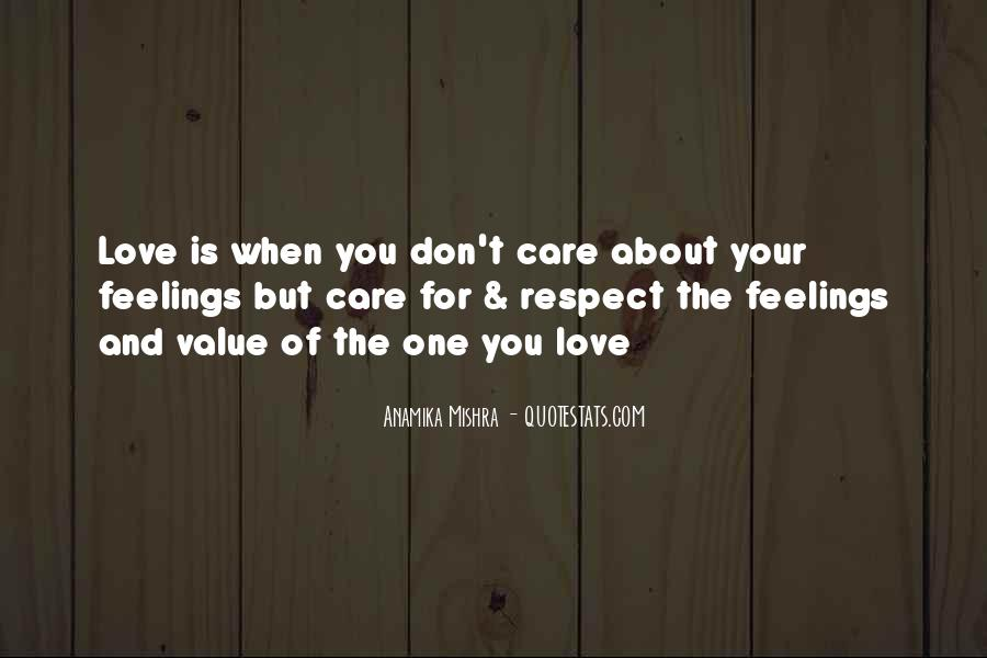 Respect Over Love Quotes #28087