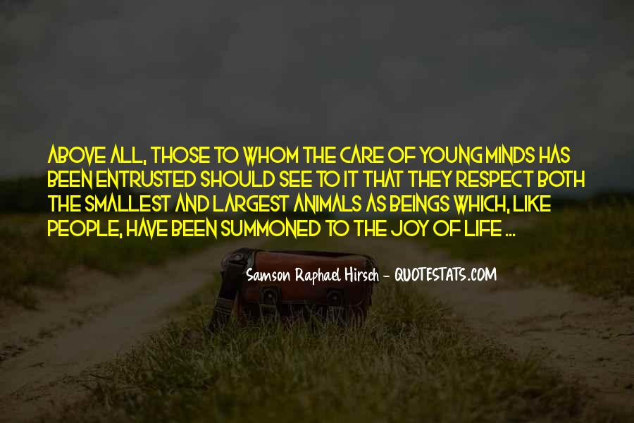 Respect The Animals Quotes #279397