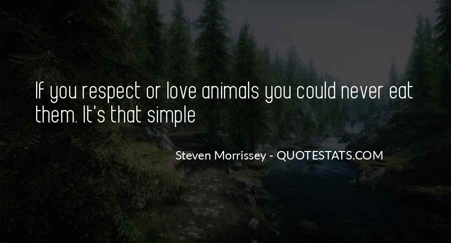 Respect The Animals Quotes #900568