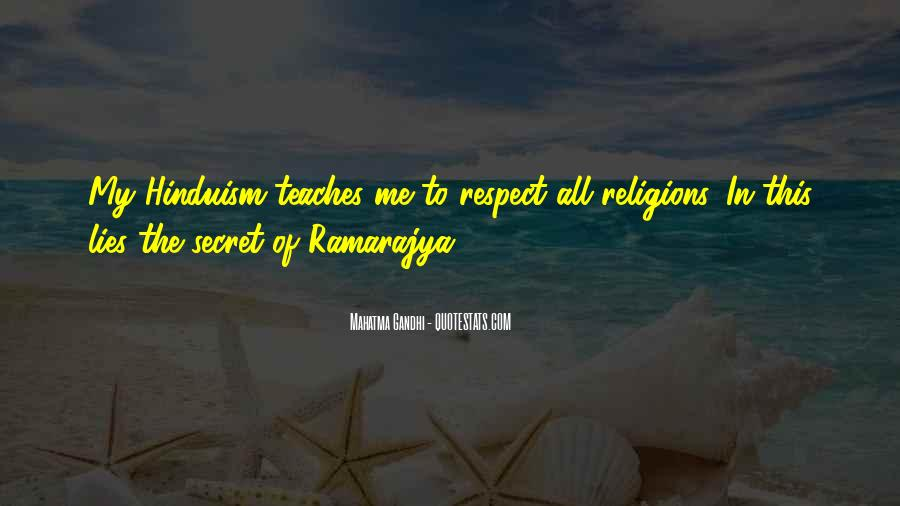 Respect To All Religions Quotes #101881